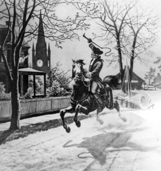 The midnight ride of Revere, Dawes, and Prescott