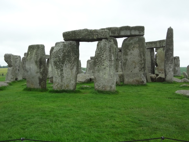 Five-thousand year old Stonehenge on a windy, rainy day is an eerie place.