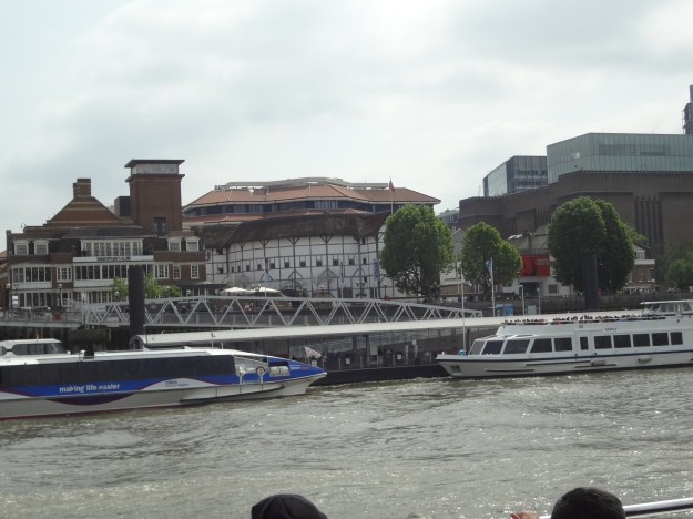 We took the Thames River Cruise and passed by the reconstructed Globe Theater with its thatched roof. I believe this is the only thatched roof allowed in London since the 1666 fire.