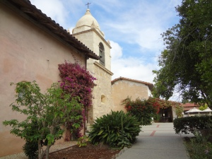 Carmel Mission courtyard