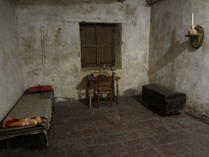 This was Junípero Serra's simple room at Carmel Mission.